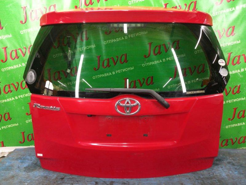 Дверь задняя Toyota Ractis NSP120 1NZ-FE 2011 задняя (б/у) ПОТЕРТОСТИ. МЕТЛА. КАМЕРА