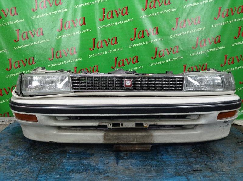 Ноускат Toyota Corolla EE90 2E 1991 передний (б/у) ГАЛОГЕН. ЛОМ КРЕПЛЕНИЯ R ФАРЫ, ЛОМ КРЕПЛЕНИЯ РЕШЕТКИ РАДИАТОРА. ПОТЕРТОСТИ.