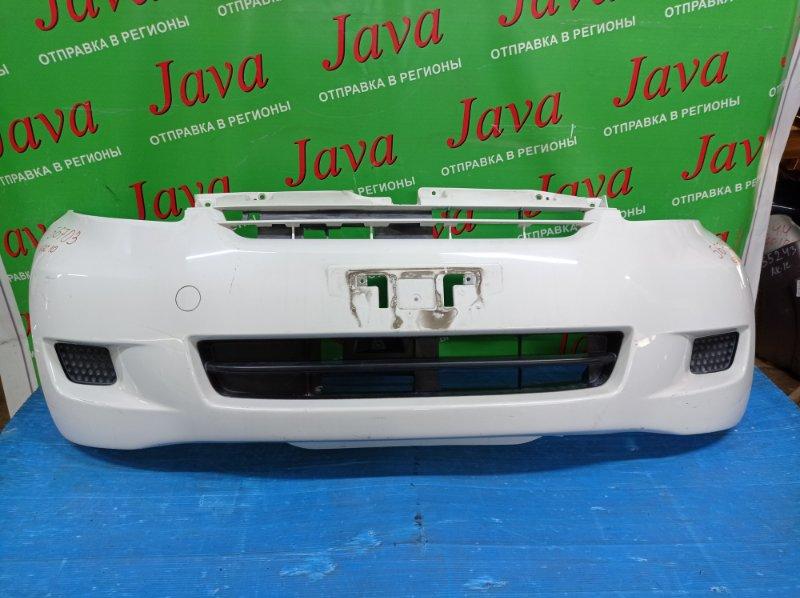 Бампер Toyota Passo KGC10 1KR-FE 2008 передний (б/у) 2-я МОДЕЛЬ. ПОТЕРТОСТИ.