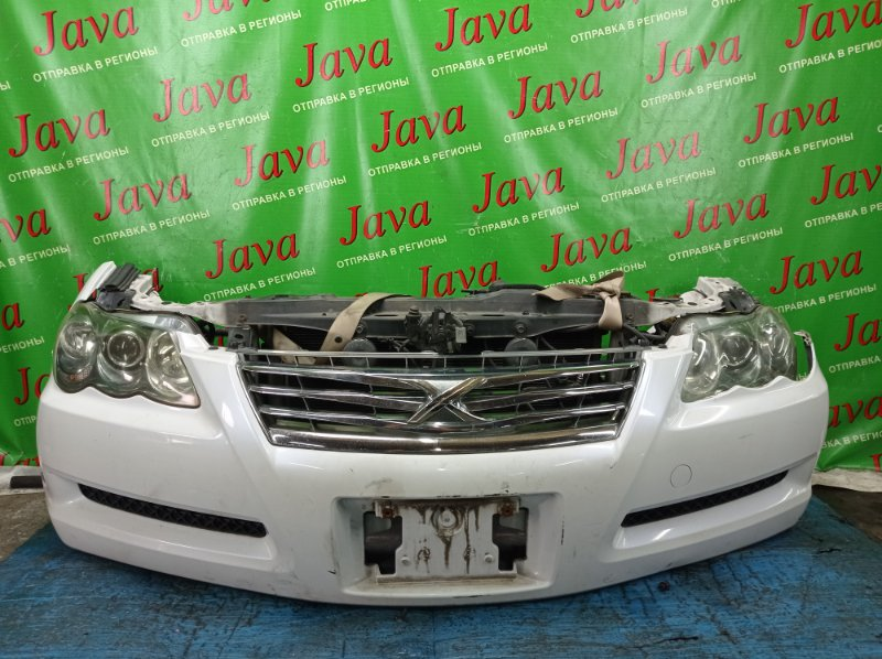Ноускат Toyota Mark X GRX125 4GR-FSE 2007 передний (б/у) 2-я МОДЕЛЬ. XENON. ПОД А/Т. ДЕФЕКТ ВЕРХНЕГО КРЕПЛЕНИЯ РАДИАТОРА.