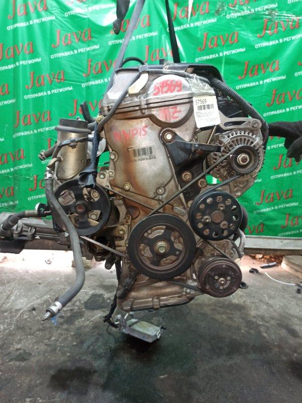Двигатель Toyota Porte NNP15 1NZ-FE 2009 (б/у) ПРОБЕГ-75000КМ. 4WD. МЕХ.ЗАСЛОНКА. ПОД А/Т. СТАРТЕР В КОМПЛЕКТЕ.