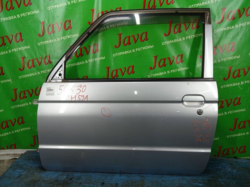Дверь Nissan Kix H59A 4A30 2009 передняя левая (б/у) ПОТЕРТОСТИ. ТЫЧКА. +ВЕТРОВИК