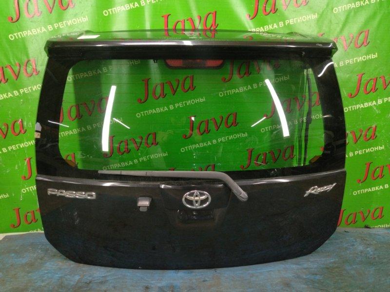 Дверь задняя Toyota Passo QNC10 K3-VE 2006 задняя (б/у) ПОТЕРТОСТИ. МЕТЛА. СПОЙЛЕР. КАМЕРА. RACY
