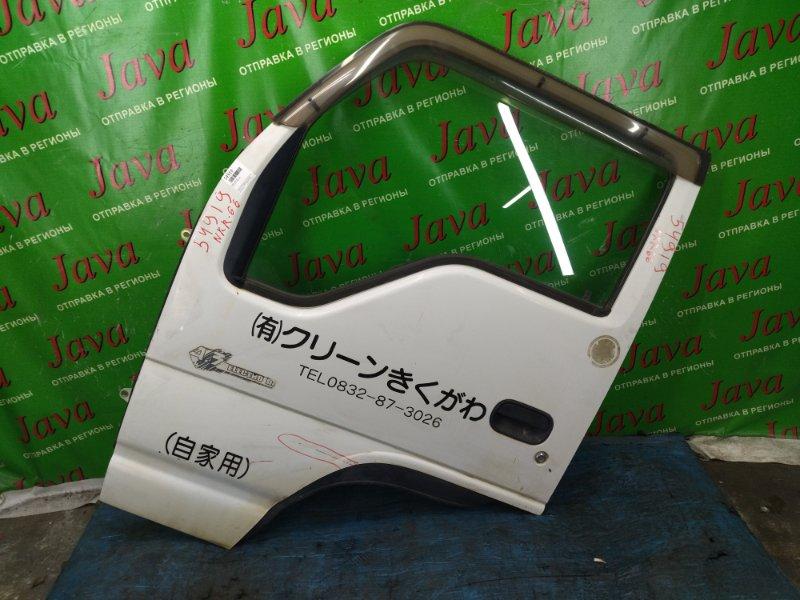 Дверь Isuzu Elf NKR66 2000 передняя левая (б/у) ПОТЕРТОСТИ. ВМЯТИНА. ВЕТРОВИК.