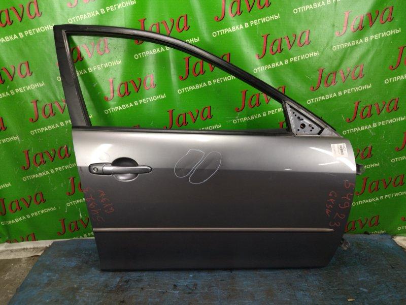 Дверь Mazda Atenza GY3W L3-VE 2004 передняя правая (б/у) 1-я МОДЕЛЬ.  ПОТЕРТОСТИ. ТЫЧКА. ВМЯТИНЫ.