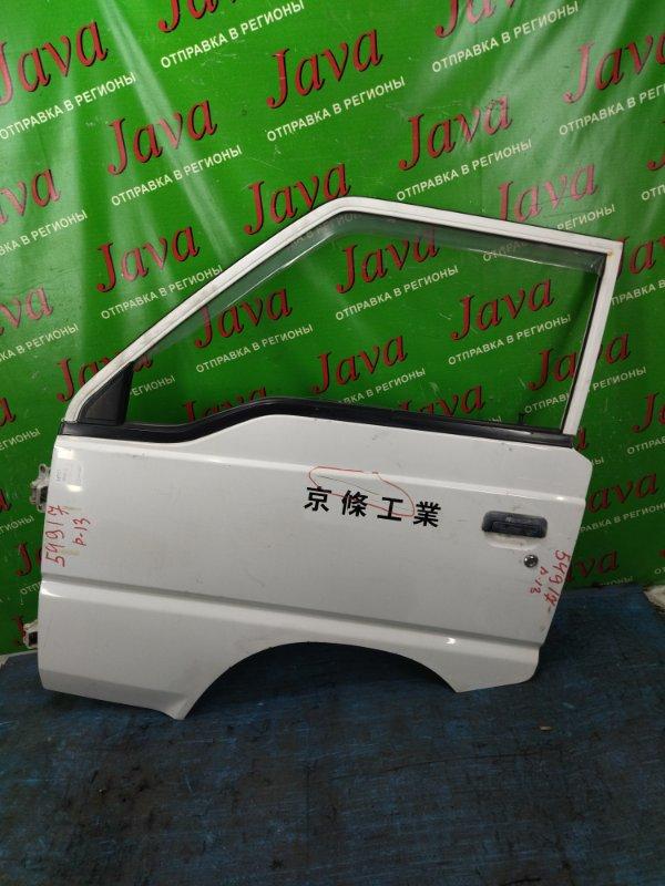 Дверь Mitsubishi Delica P13 4G63 1998 передняя левая (б/у) ПОТЕРТОСТИ. ВМЯТИНА.