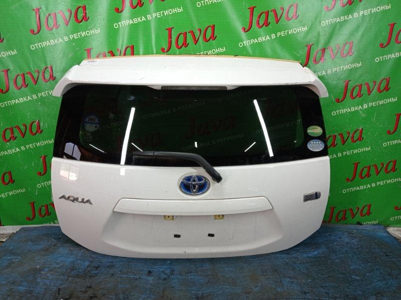 Дверь задняя Toyota Aqua NHP10 1NZ-FXE 2016 задняя (б/у) ПОТЕРТОСТИ. МЕТЛА. СПОЙЛЕР