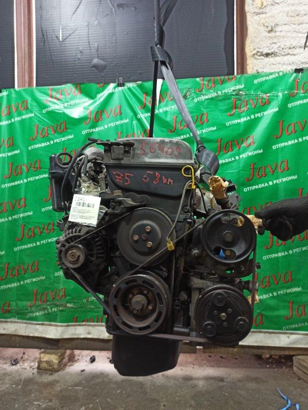 Двигатель Mazda Familia BHALP Z5 1994 (б/у) ПРОБЕГ-58000КМ. 2WD. КОСА+КОМП. ПОД А/Т. СТАРТЕР В КОМПЛЕКТЕ.