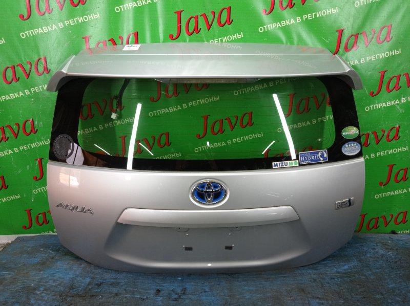 Дверь задняя Toyota Aqua NHP10 1NZ-FXE 2013 задняя (б/у) ПОТЕРТОСТИ. СПОЙЛЕР.