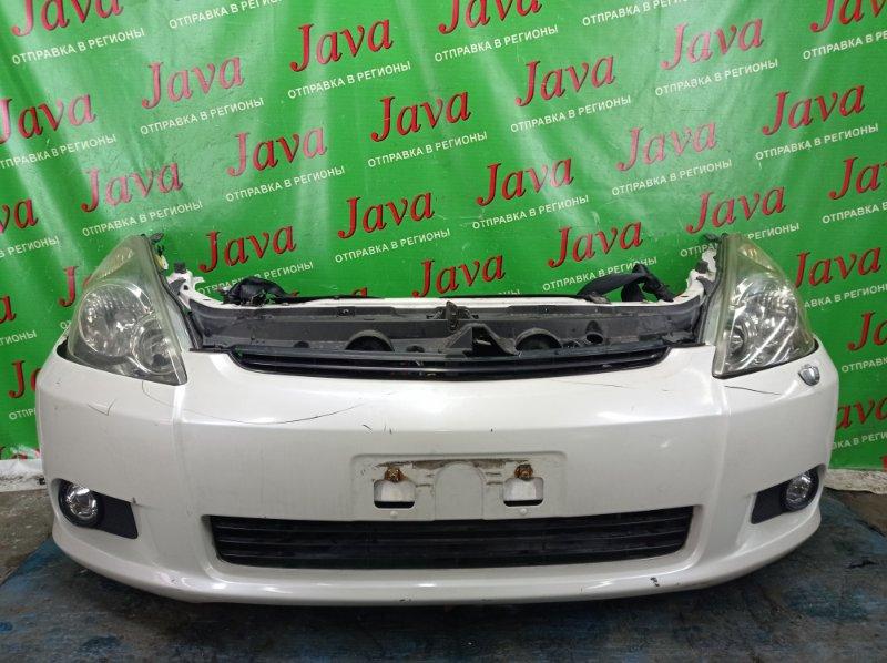 Ноускат Toyota Wish ANE10 1AZ-FSE 2004 передний (б/у) КСЕНОН. ТУМАНКИ. ПОТЕРТОСТИ.