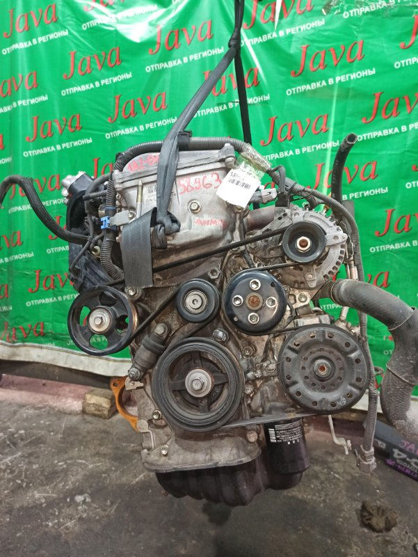 Двигатель Toyota Isis ANM10 1AZ-FSE 2008 (б/у) ПРОБЕГ-52000КМ. 2WD. КОСА+КОМП. ПОД А/Т. СТАРТЕР В КОМПЛЕКТЕ.