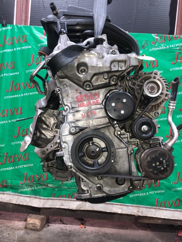 Двигатель Nissan March K13 HR12DE 2015 (б/у) ПРОБЕГ-34000КМ. 2WD. +КОМП. ПОД А/Т. СТАРТЕР В КОМПЛЕКТЕ.