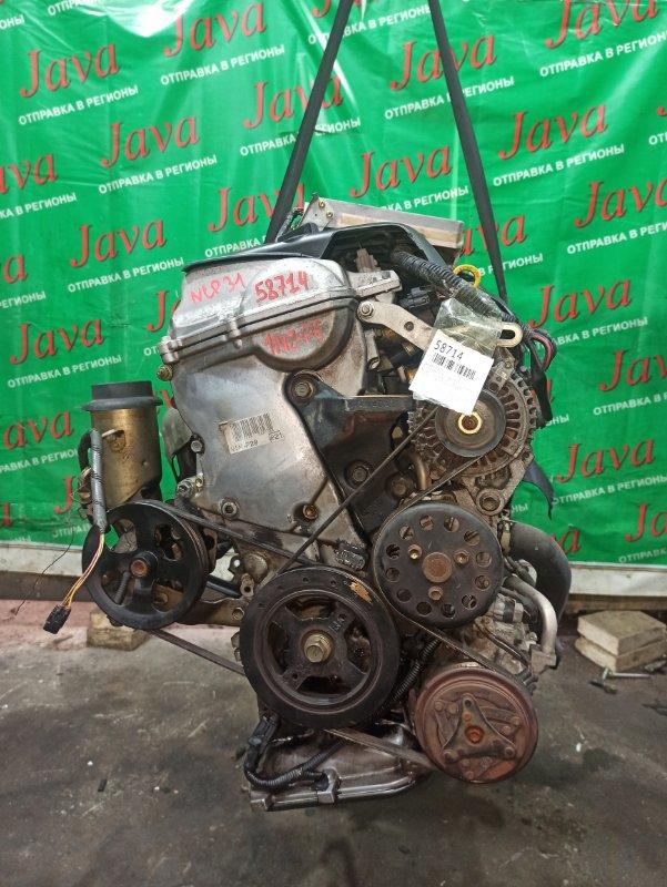 Двигатель Toyota Bb NCP31 1NZ-FE 2000 (б/у) ПРОБЕГ-69000КМ. 2WD. МЕХ.ЗАСЛОНКА. +КОМП. ПОД А/Т. СТАРТЕР В КОМПЛЕКТЕ.