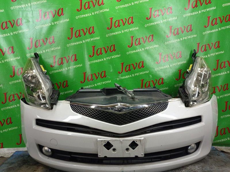 Ноускат Toyota Ractis NCP100 1NZ-FE 2007 передний (б/у) 2-я МОДЕЛЬ. XENON. ТУМАНКИ. ЛОМ КРЕПЛЕНИЯ ПРАВОЙ ФАРЫ. ПОТЕРТОСТИ.