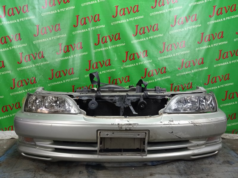 Ноускат Toyota Cresta GX100 1G-FE 1999 передний (б/у) 2-я МОДЕЛЬ. ПОТЕРТОСТИ. ДЕФЕКТ КРЕПЛЕНИЯ ГАБАРИТА. ПОД А/Т. ГАЛОГЕН.