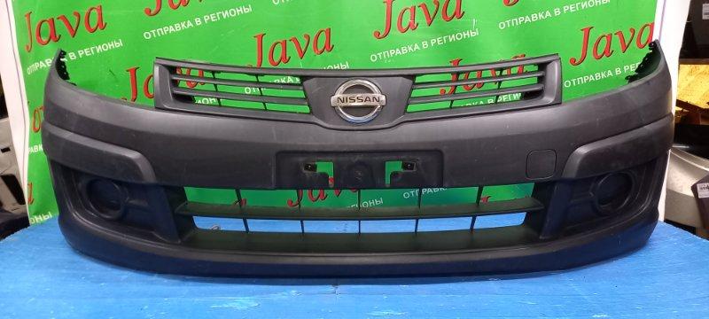 Бампер Nissan Ad VAY12 CR12DE 2008 передний (б/у) ПОТЕРТОСТИ