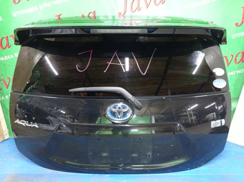Дверь задняя Toyota Aqua NHP10 1NZ-FXE 2012 задняя (б/у) ПОТЕРТОСТИ. МЕТЛА. СПОЙЛЕР AERO. КАМЕРА