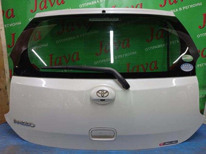 Дверь задняя Toyota Passo KGC30 1KR-FE 2014 задняя (б/у) ПОТЕРТОСТИ. МЕТЛА. КАМЕРА