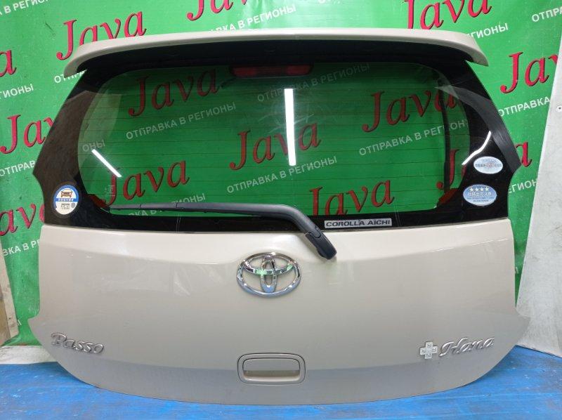 Дверь задняя Toyota Passo KGC30 1KR-FE 2013 задняя (б/у) ПОТЕРТОСТИ. МЕТЛА. СПОЙЛЕР.