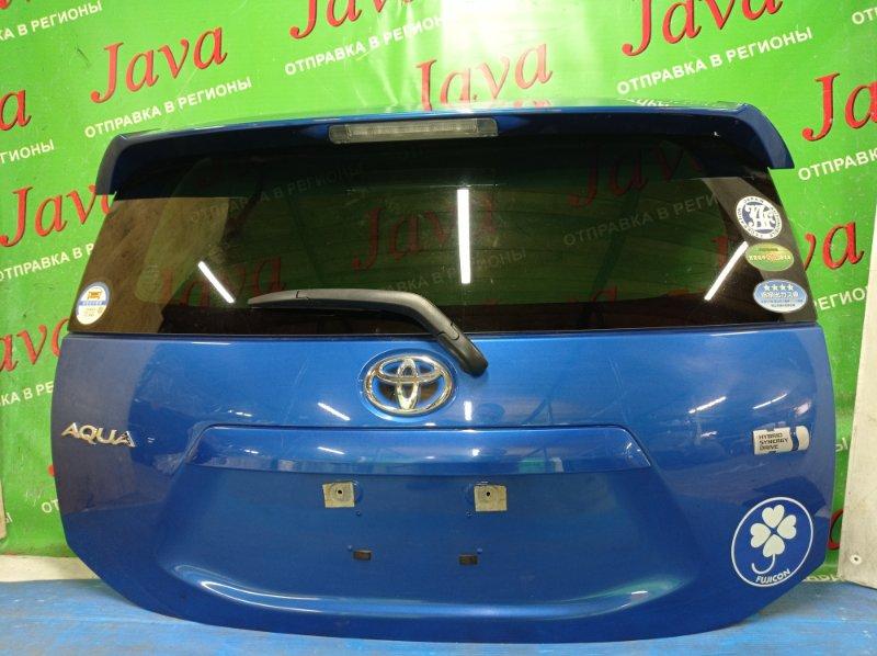 Дверь задняя Toyota Aqua NHP10 1NZ-FXE 2015 задняя (б/у) ПОТЕРТОСТИ. МЕТЛА. СПОЙЛЕР