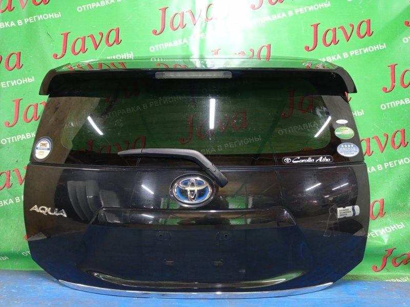 Дверь задняя Toyota Aqua NHP10 1NZ-FXE 2012 задняя (б/у) ПОТЕРТОСТИ. МЕТЛА. СПОЙЛЕР