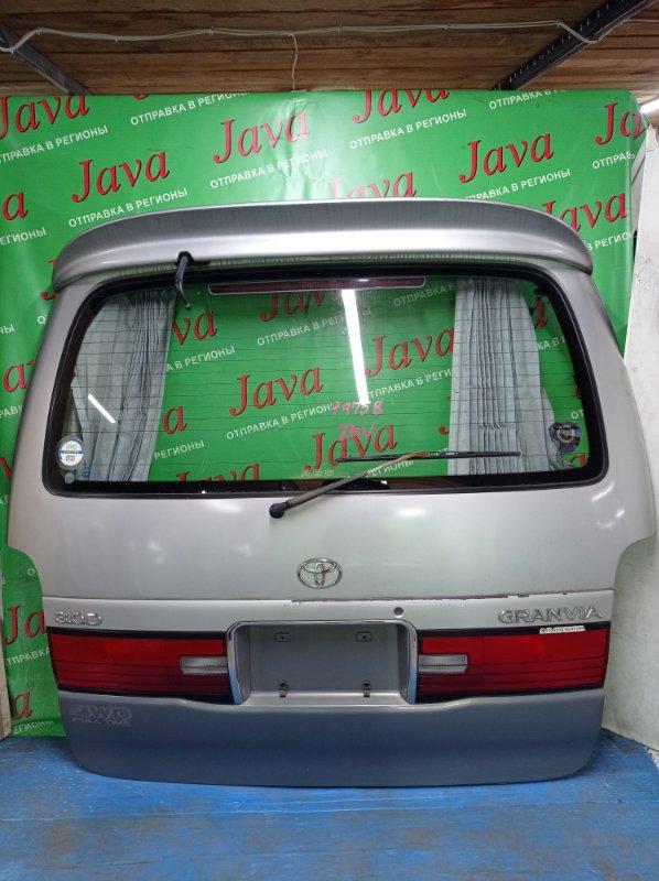 Дверь задняя Toyota Granvia KCH16 1KZ-TE 1997 задняя (б/у) ПОТЕРТОСТИ. МЕТЛА. СПОЙЛЕР.