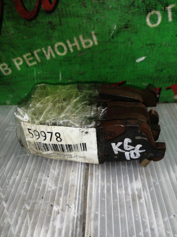 Колодки тормозные Toyota Passo KGC10 1KR-FE 2007 передние (б/у)