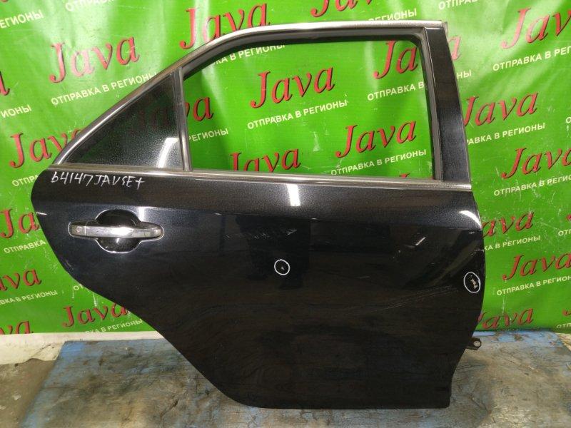 Дверь Toyota Camry AVV50 2AR-FXE 2012 задняя правая (б/у) ПОТЕРТОСТИ. ПОЛЕЗ ЛАК. ТЫЧКИ.