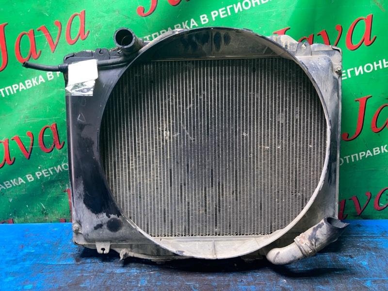 Радиатор основной Mitsubishi Delica P45V 4D56 1997 передний (б/у) M/T. ТЫЧКА В СОТАК.