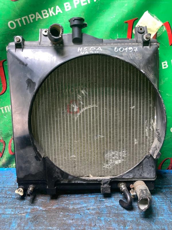 Радиатор основной Mitsubishi Pajero Mini H56A 4A30 1998 передний (б/у) A/T. ТЫЧКА