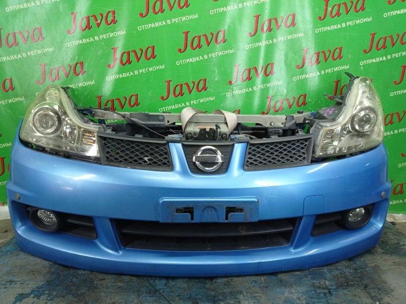 Ноускат Nissan Wingroad Y12 HR15DE 2008 передний (б/у) КСЕНОН. ТУМАНКИ. СОНАРЫ. ПОТЕРТОСТИ.