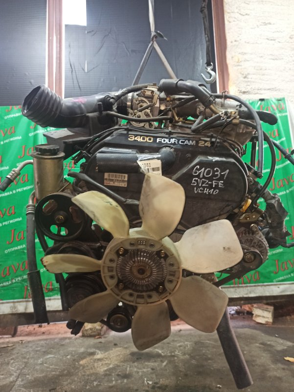 Двигатель Toyota Grand Hiace VCH10 5VZ-FE 2000 (б/у) ПРОБЕГ-51000КМ. 2WD. +КОМП. ПОД А/Т. СТАРТЕР В КОМПЛЕКТЕ.