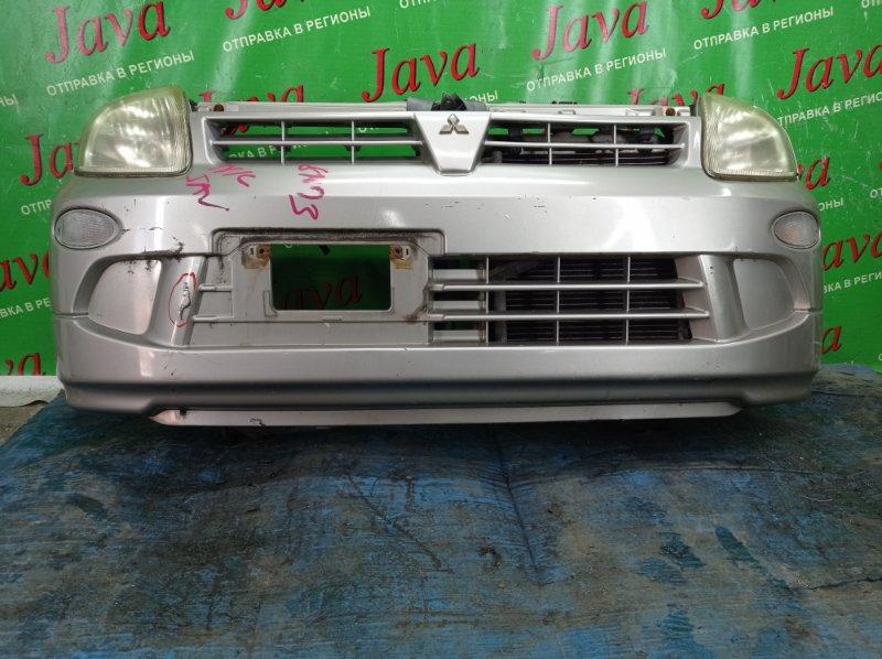 Ноускат Mitsubishi Minica H42A 3G83 2000 передний (б/у) ГАЛОГЕН. ПОД А/Т. ПОТЕРТОСТИ НА БАМПЕРЕ.