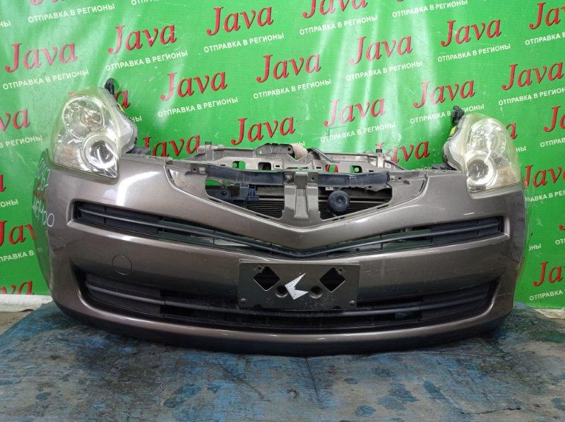 Ноускат Toyota Ractis NCP100 1NZ-FE 2010 передний (б/у) 2-я МОДЕЛЬ. КСЕНОН. ПОД А/Т. ЛОМ НИЖНЕГО КРЕПЛЕНИЯ БАМПЕРА. БЕЗ РЕШЕТКИ.