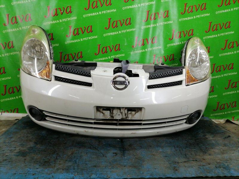 Ноускат Nissan Note E11 HR15DE 2007 передний (б/у) 1-я МОДЕЛЬ. ГАЛОГЕН. ТУМАНКИ. ПОД А/Т