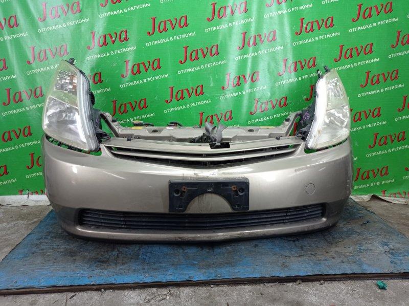 Ноускат Toyota Prius NHW20 1NZ-FXE 2004 передний (б/у) 1-я МОДЕЛЬ. ГАЛОГЕН. ПОДОРВАН БАМПЕР.