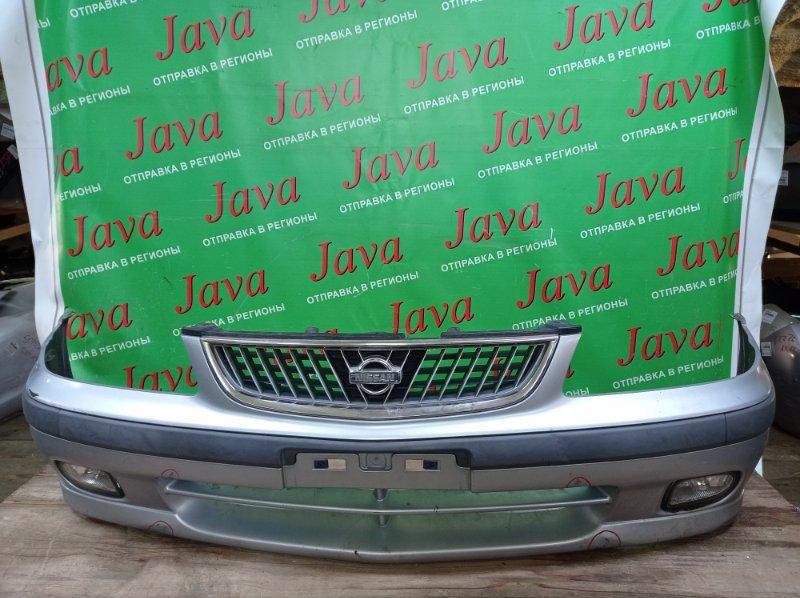 Бампер Nissan Sunny FB15 QG15DE 2000 передний (б/у) 1-я МОДЕЛЬ. ПОТЕРТОСТИ. ТЫЧКИ. ТУМАНКИ.