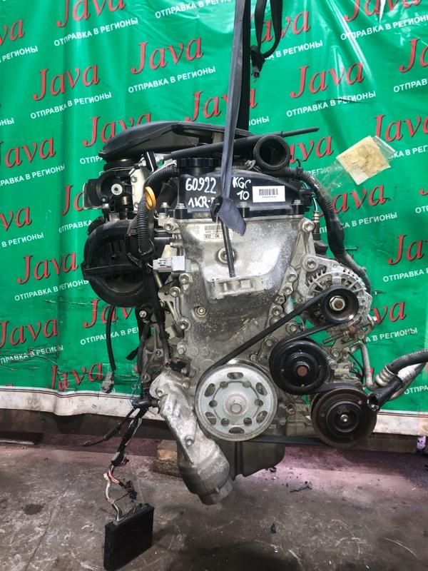 Двигатель Toyota Passo KGC10 1KR-FE 2008 (б/у) ПРОБЕГ-40000КМ. 2WD. ПРОДАЖА С АКПП(A4B-D 02A). +КОМП. МЕХ.ЗАСЛОНКА. СТАРТЕР В КОМПЛЕКТЕ.