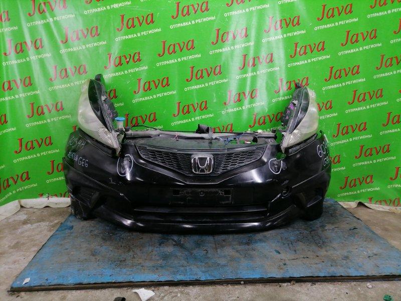 Ноускат Honda Fit GE6 L13A 2009 передний (б/у) 2-я МОДЕЛЬ.ГАЛОГЕН. НАКЛАДКИ. БАМПЕР ПОДОРВАН. ДЕФЕКТ КРЕПЛЕНИЯ L ФАРЫ.