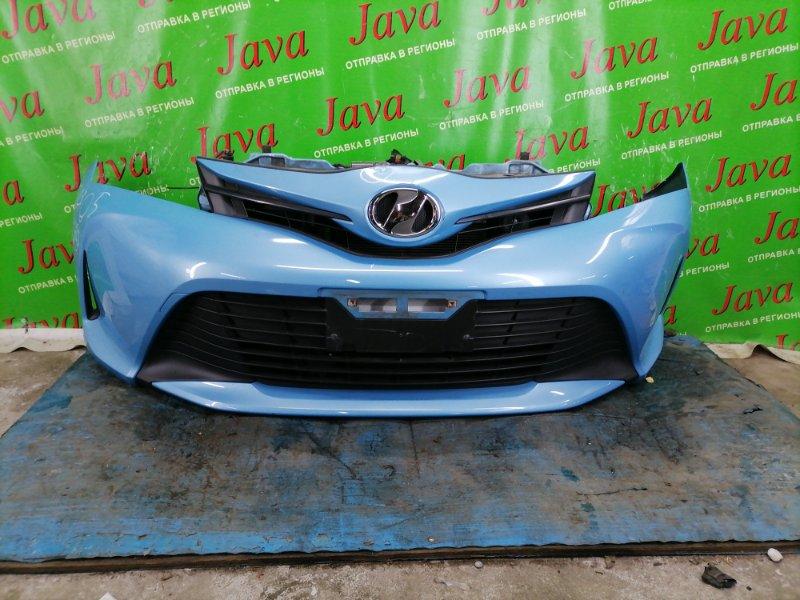 Ноускат Toyota Vitz KSP130 1KR-FE 2015 передний (б/у) 2-я МОДЕЛЬ. БЕЗ ФАР. ТЫЧКА.
