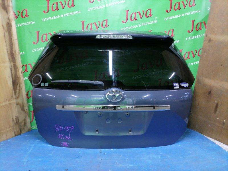 Дверь задняя Toyota Wish ZNE10 1ZZ-FE 2003 задняя (б/у) 1-я МОДЕЛЬ. ПОТЕРТОСТИ. МЕТЛА. КАМЕРА. СПОЙЛЕР(ПОЛЕЗ ЛАК).