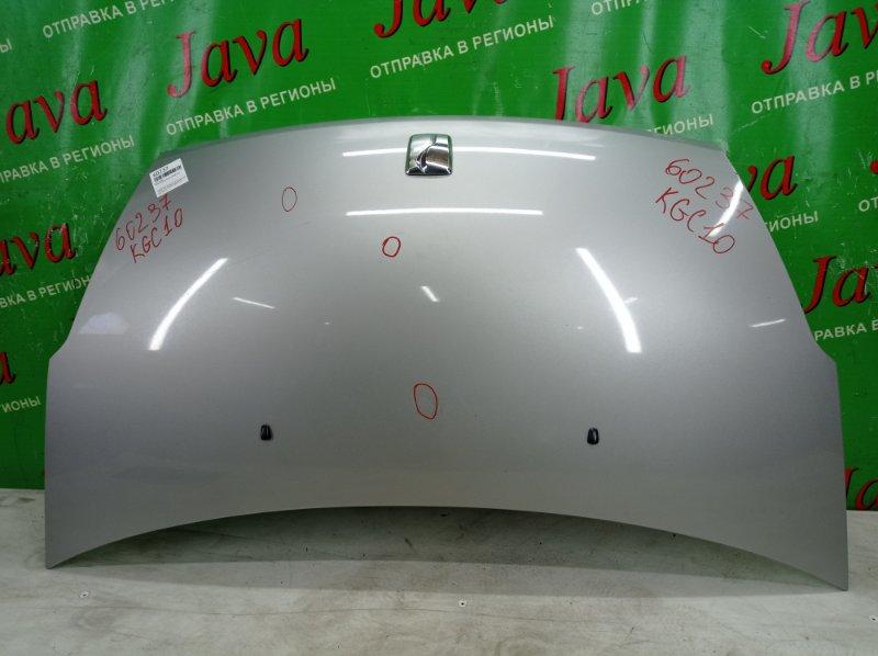 Капот Toyota Passo KGC10 1KR-FE 2008 передний (б/у) ПОТЕРТОСТИ. ТЫЧКИ.