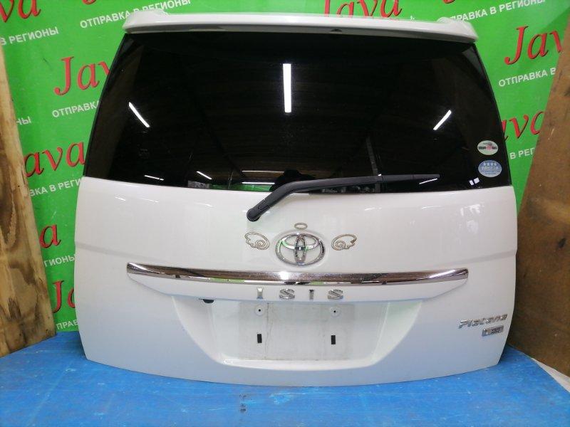 Дверь задняя Toyota Isis ZGM11 3ZR-FAE 2010 задняя (б/у) ПОТЕРТОСТИ. МЕТЛА. КАМЕРА. СПОЙЛЕР.