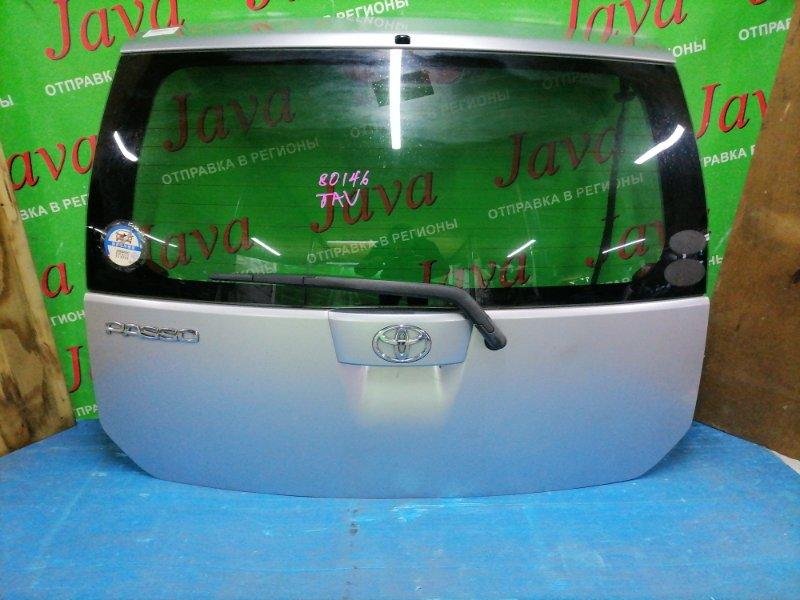 Дверь задняя Toyota Passo QNC10 K3-VE 2007 задняя (б/у) ПОТЕРТОСТИ. МЕТЛА.