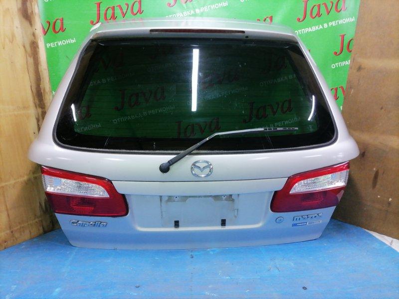 Дверь задняя Mazda Capella GW8W EP 2002 задняя (б/у) ПОТЕРТОСТИ. МЕТЛА. СПОЙЛЕР