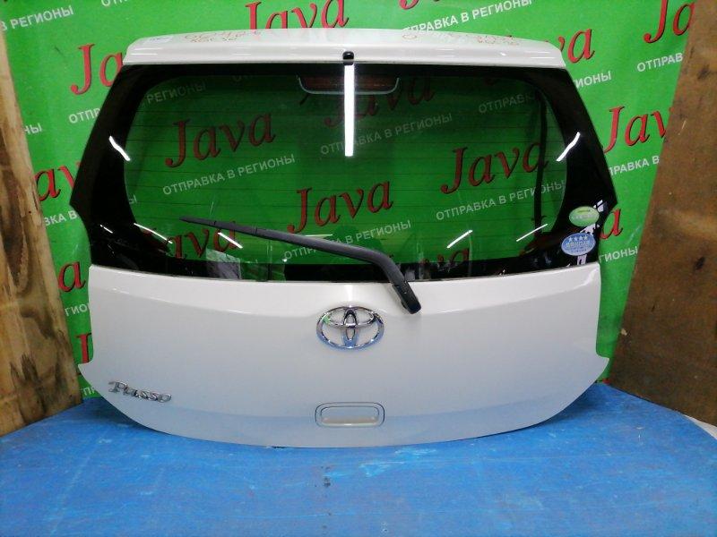Дверь задняя Toyota Passo KGC30 1KR-FE 2012 задняя (б/у) ПОТЕРТОСТИ. ТЫЧКА. МЕТЛА