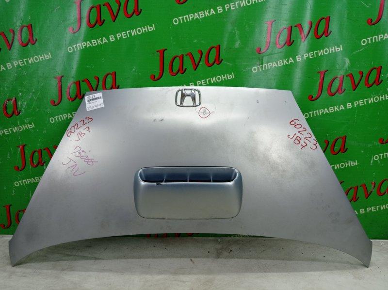 Капот Honda Life JB7 P07A 2004 передний (б/у) ПОТЕРТОСТИ.ТЫЧКА. ПОЛЕЗ ЛАК.