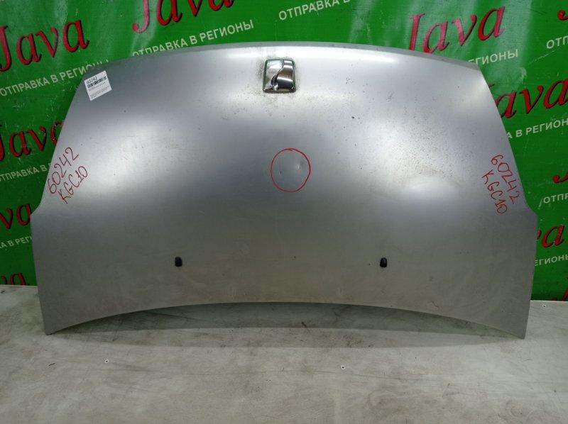 Капот Toyota Passo KGC10 1KR-FE 2008 передний (б/у) ПОТЕРТОСТИ. ТЫЧКА