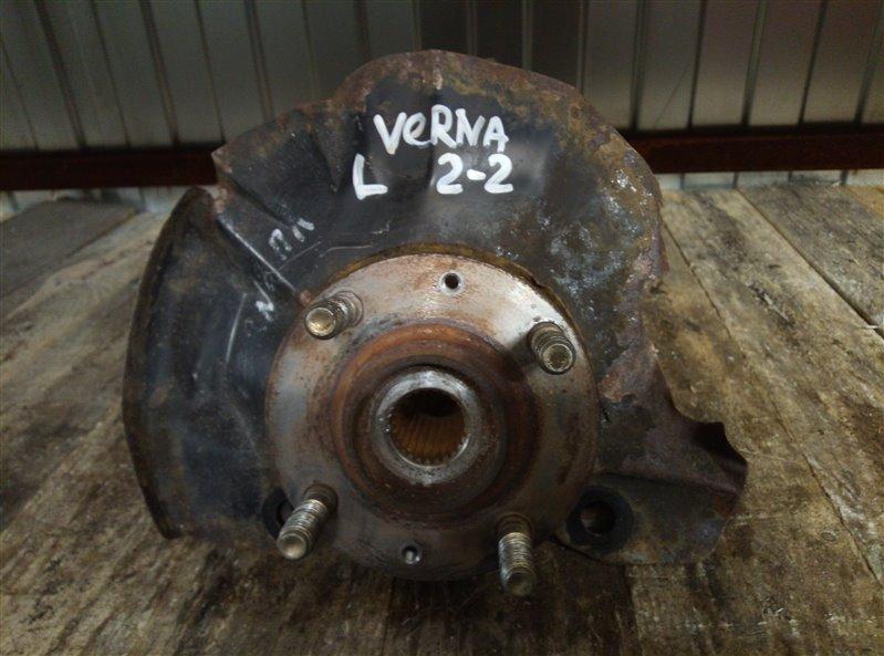 Кулак поворотный (цапфа) Hyundai Verna 2008 передний левый (б/у)