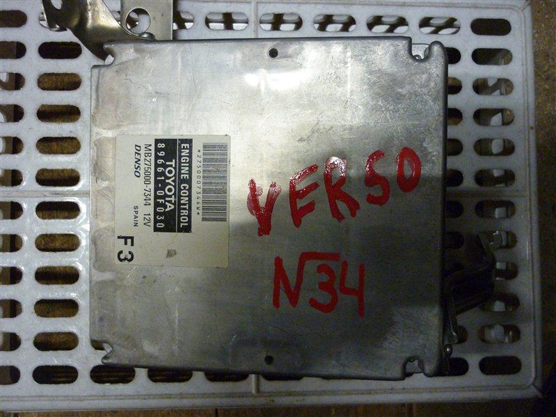 Блок управления двигателем Toyota Corolla Verso ХЕТЧБЭК 2008 (б/у)